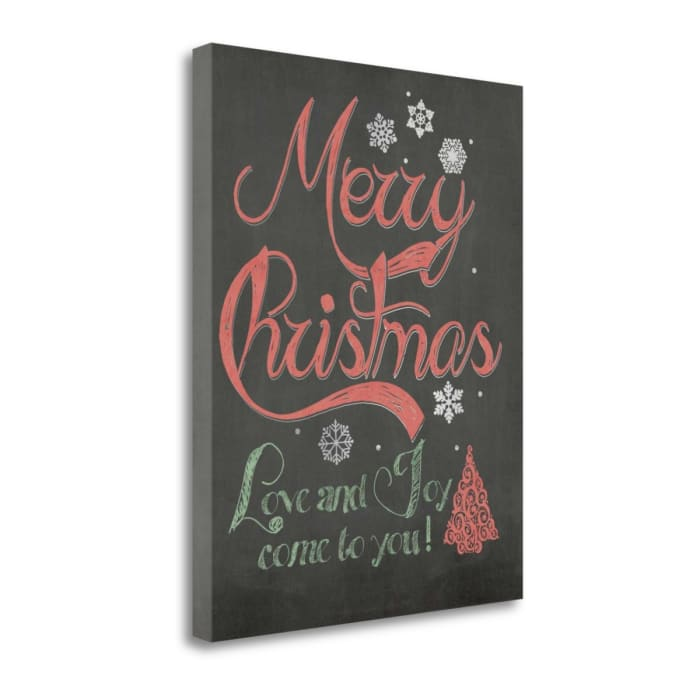 Merry Christmas By Jo Moulton Wrapped Canvas Wall Art