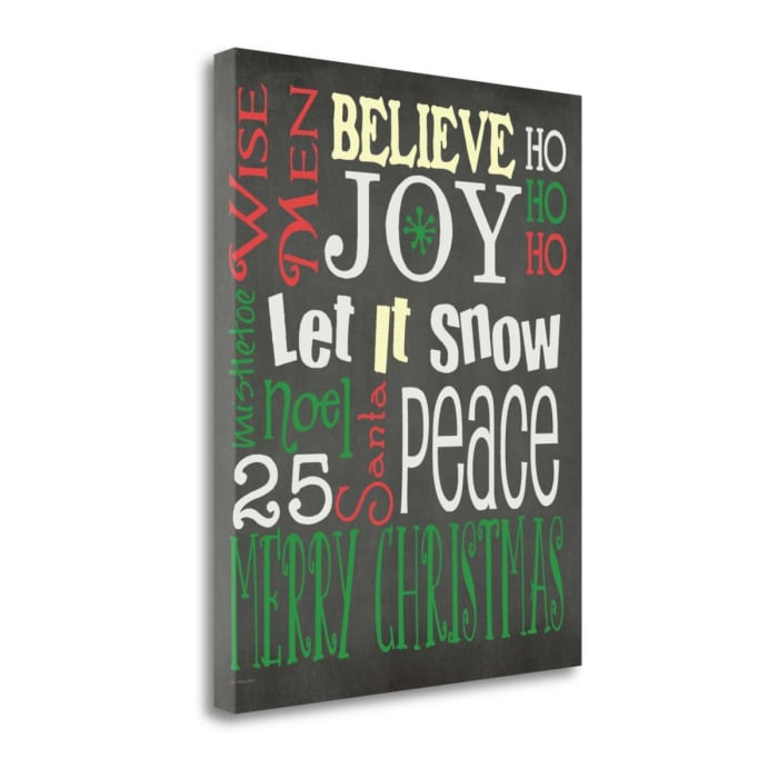 Christmas Subway By Jo Moulton Wrapped Canvas Wall Art