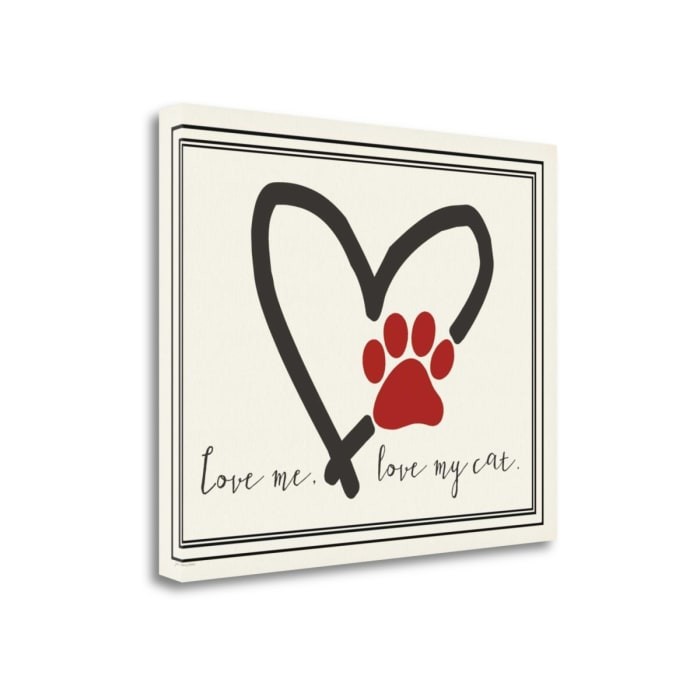 Love Me Cat By Jo Moulton Wrapped Canvas Wall Art
