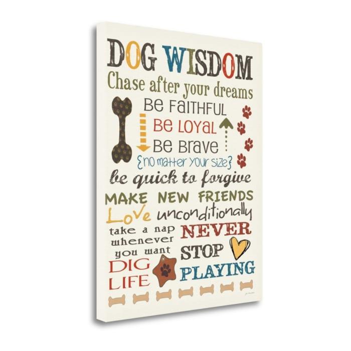 Dog Wisdom By Jo Moulton Wrapped Canvas Wall Art