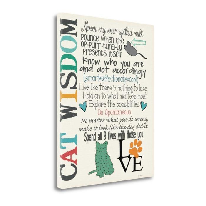 Cat Wisdom By Jo Moulton Wrapped Canvas Wall Art