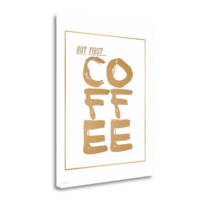 But First Coffee By Jo Moulton Wrapped Canvas Wall Art