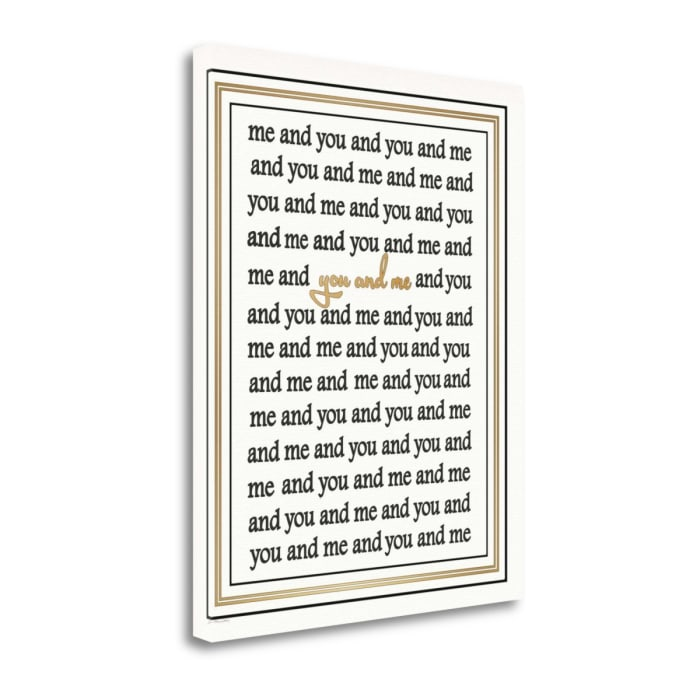 You And Me By Jo Moulton Wrapped Canvas Wall Art