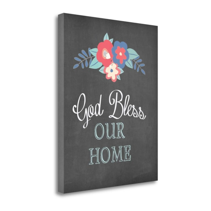 God Bless Our Home By Jo Moulton Wrapped Canvas Wall Art