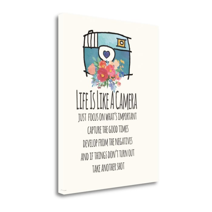 Life Is Like A Camera By Jo Moulton Wrapped Canvas Wall Art