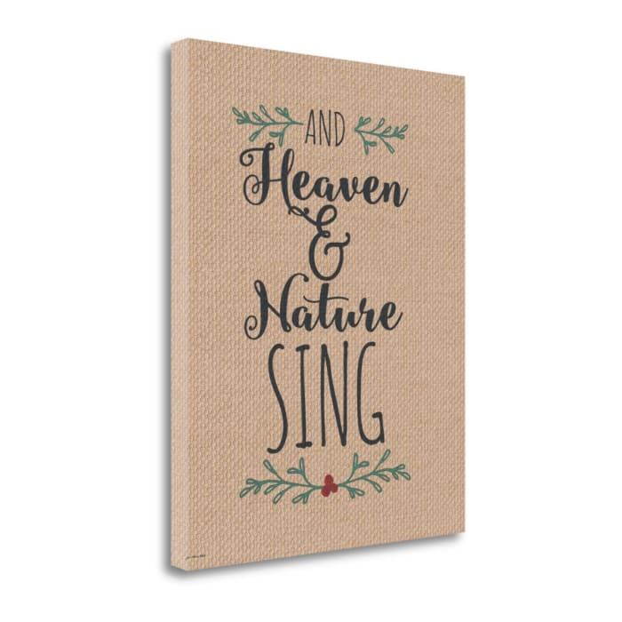 Burlap Heaven and Nature By Jo Moulton Wrapped Canvas Wall Art