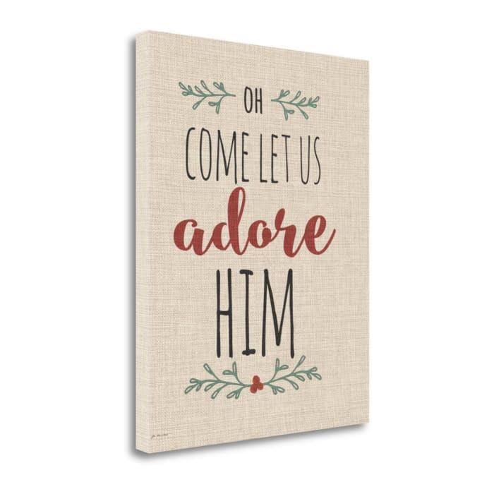 Adore Him Linen By Jo Moulton Wrapped Canvas Wall Art