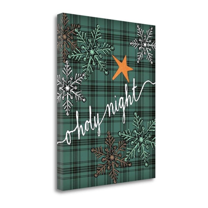 O Holy Night Plaid By Jo Moulton Wrapped  Canvas Wall Art