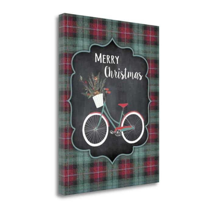 Merry Christmas Bike By Jo Moulton Wrapped Canvas Wall Art