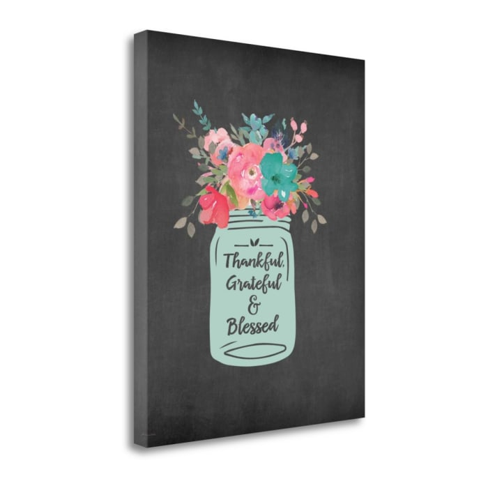 T G And Blessed By Jo Moulton Wrapped Canvas Wall Art