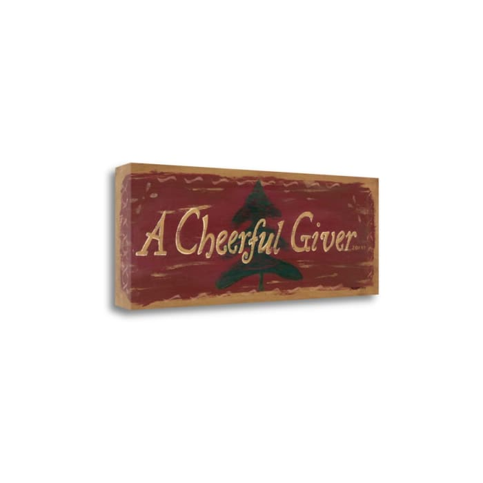 Cheerful Giver By Jo Moulton  Wrapped  Canvas Wall Art