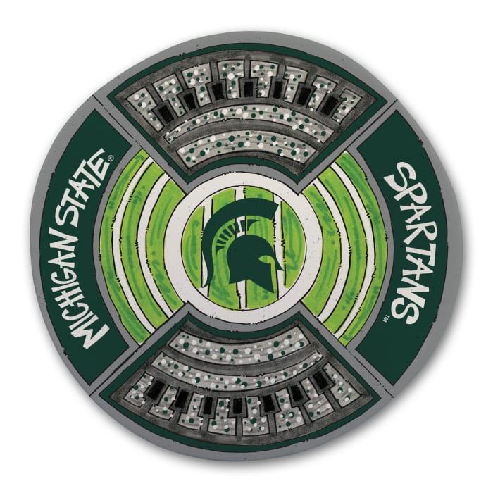 Michigan State Spartans Melamine Stadium Platter