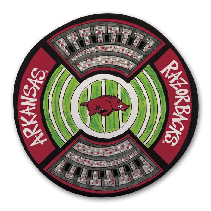 Arkansas Razorbacks Melamine Stadium Platter