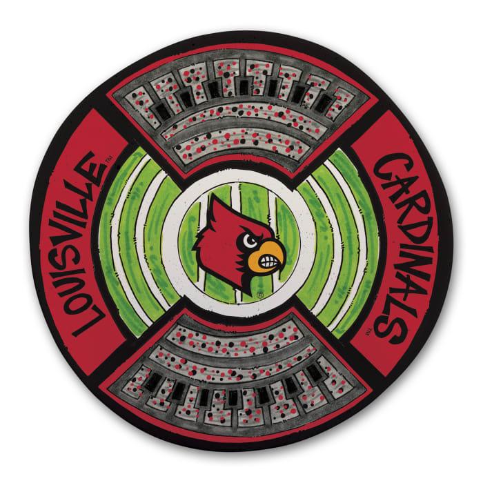 Louisville Cardinals Melamine Stadium Platter