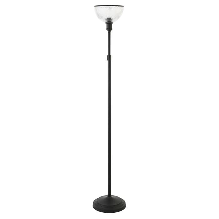 Francis Blackened Bronze Torchiere Floor Lamp