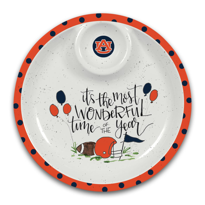 Auburn Tigers Melamine Chip and Dip Server