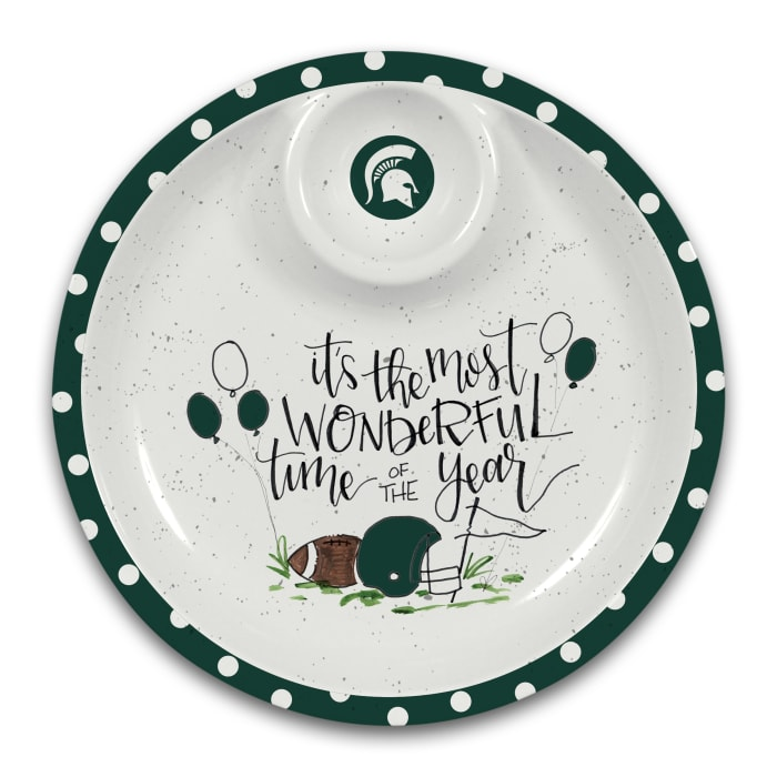 Michigan State Spartans Melamine Chip and Dip Server