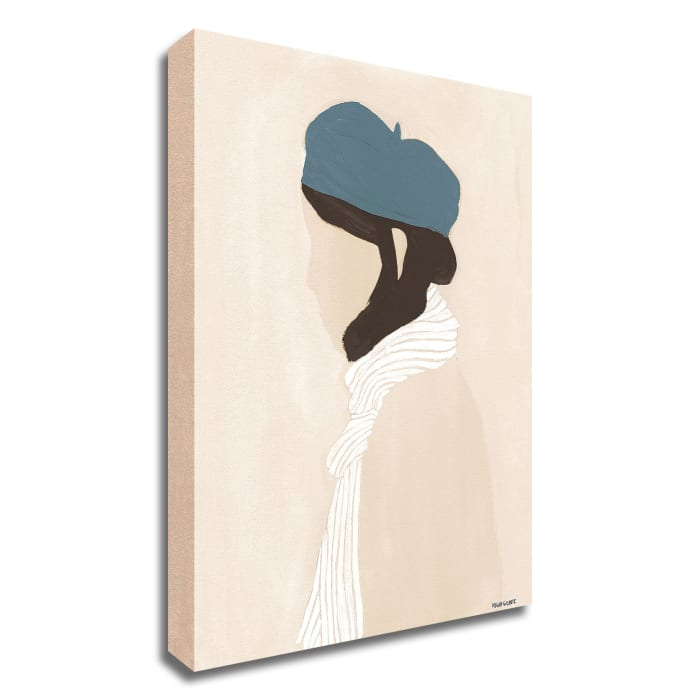 Blue Beret by Megan Galante Wrapped Canvas Wall Art
