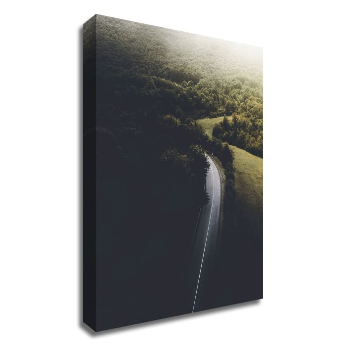 Road to Darkness by Design Fabrikken Wrapped Canvas Wall Art