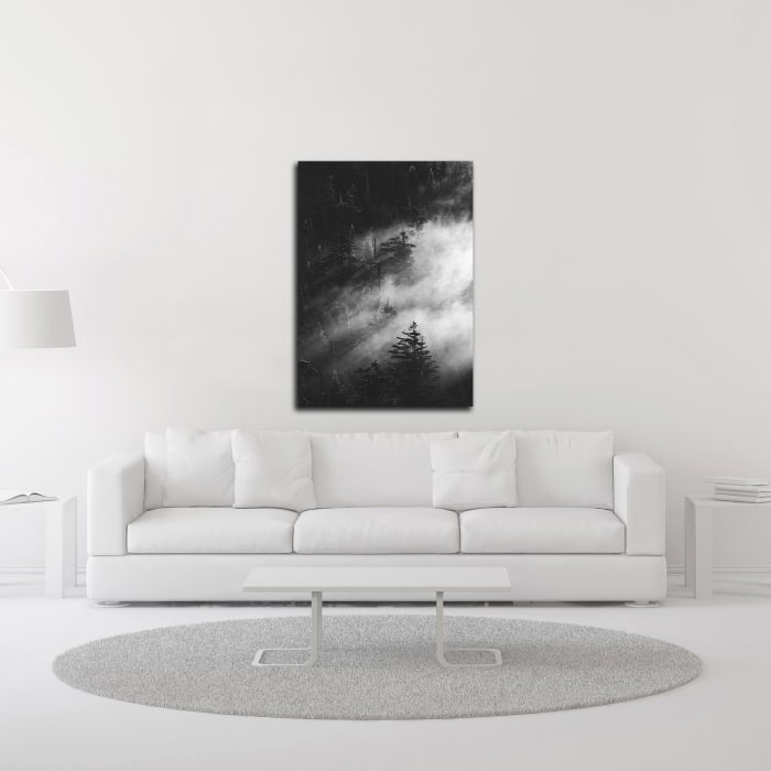 Misty Pine Woods by Design Fabrikken Wrapped Canvas Wall Art