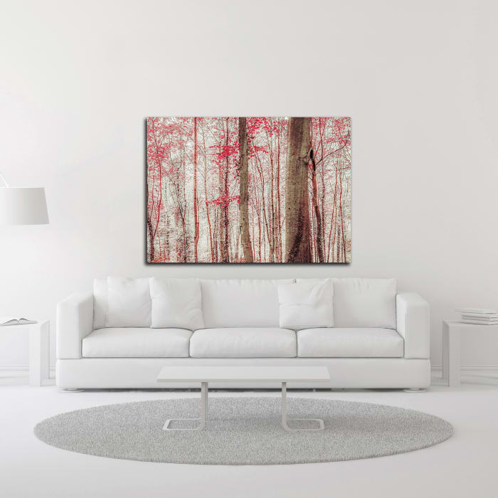 Pink and Brown Fantasy Forest by Brooke T. Ryan Wrapped Canvas Wall Art