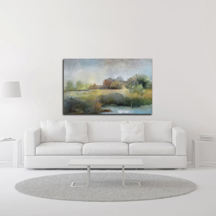 A Chill in the Air by J Austin Jennings Wrapped Canvas Wall Art