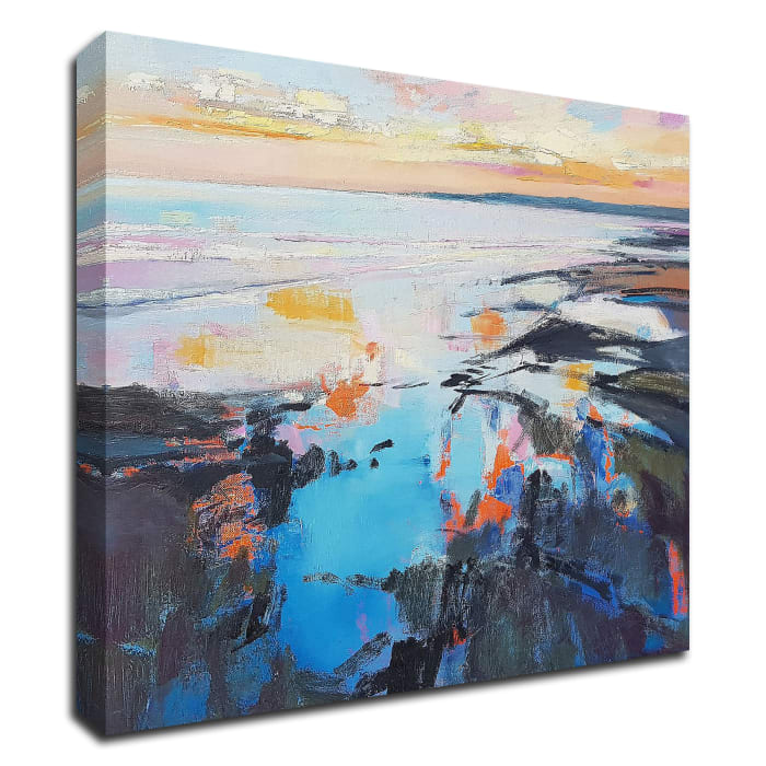 Rock Pool Sunrise by Andrew Kinmont Wrapped Canvas Wall Art