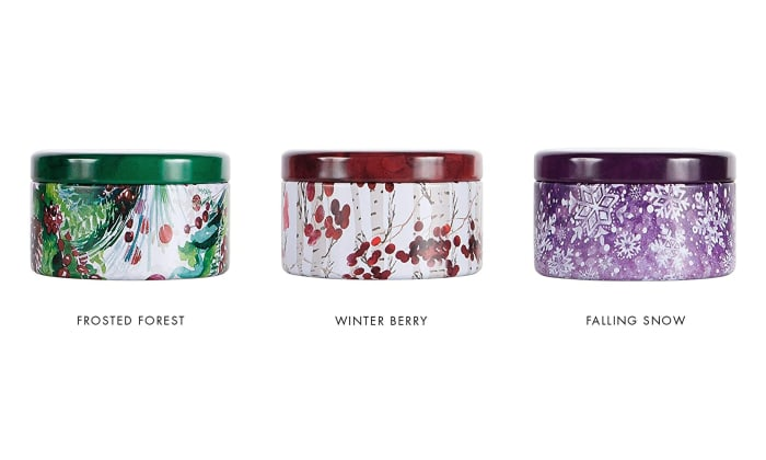 Via Mercato Natale 3 Oz Frosted Forest Candle