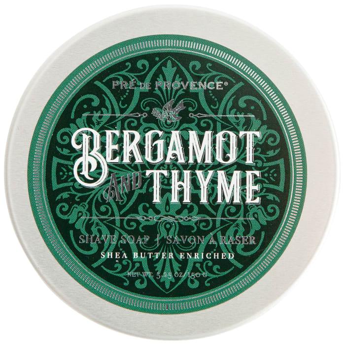 Bergamot & Thyme Men's Shaving Soap In Tin