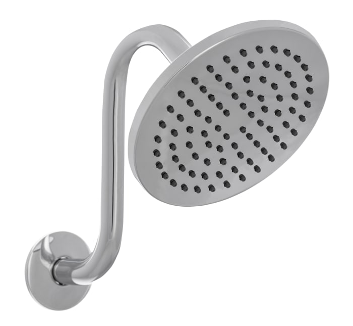 Summit Chrome Brass Round Bathtub And Shower Faucet Set With Single Lever Handle