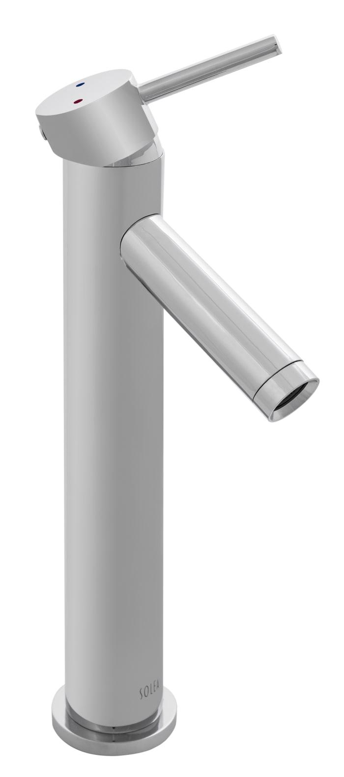 Elation Chrome Brass Single Handle 12 Inch Bathroom Vessel Faucet