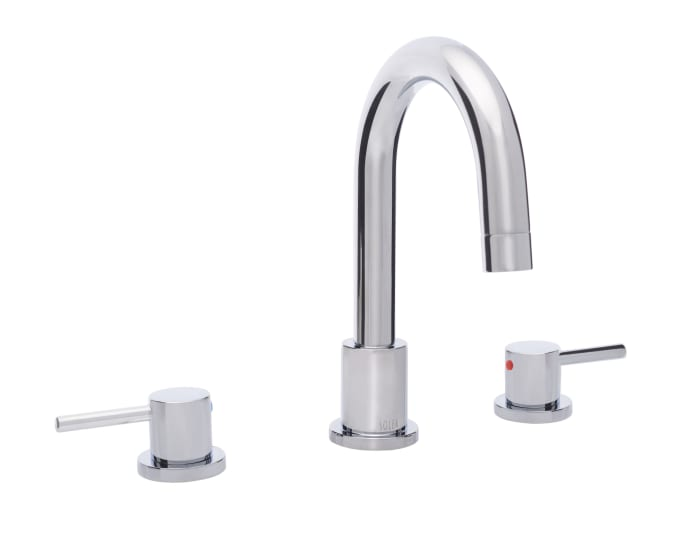 Poised Chrome Brass Dual Handle 9 Inch Bathroom Vessel Faucet