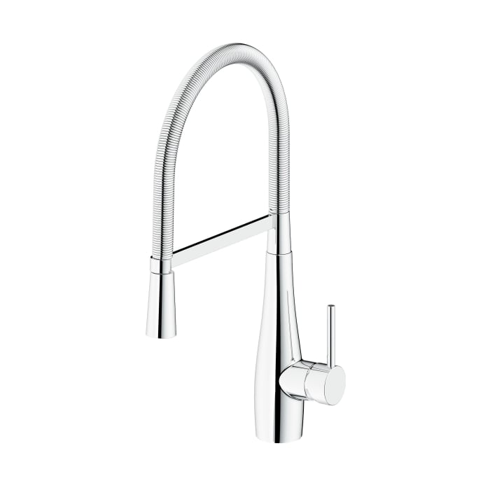 Rhapsody Chrome Brass Single Control Dual Function Spray Pull Down Kitchen Faucet