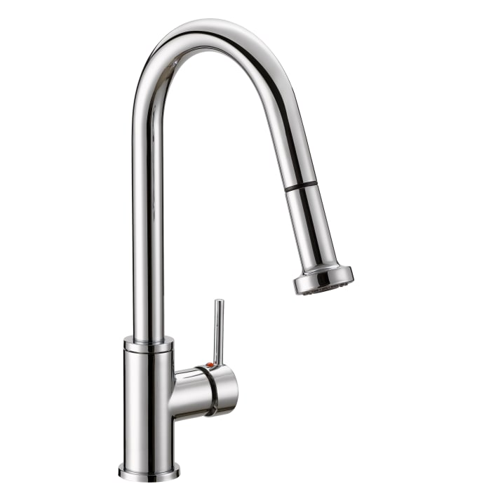 Enchant Chrome Brass Single Control Dual Function Spray Pull Down Kitchen Faucet