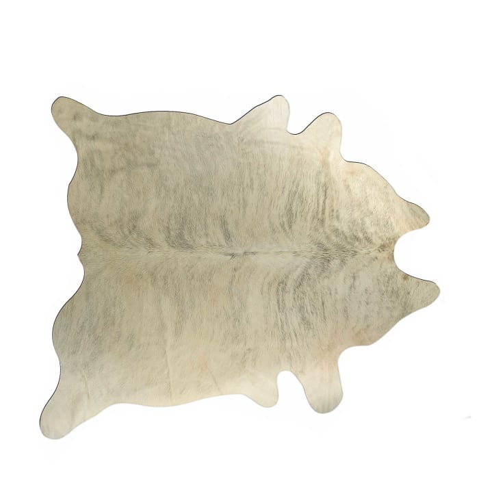 Cowhide Light Taupe and Brown Exotic 6' x 7' Rug