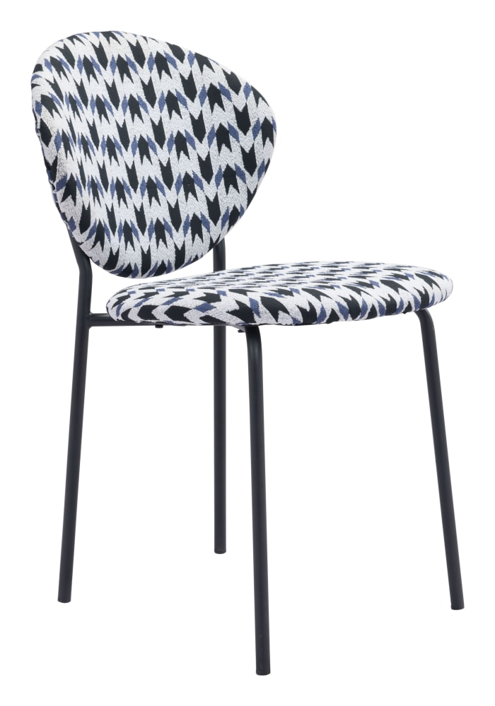 Multicolor Black  Set of 2 Dining Chairs