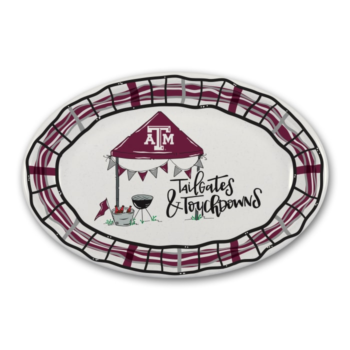Texas A & M Tailgates and Touchdowns Melamine Platter