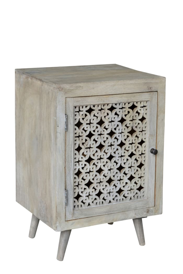 Halle Hand-carved Nightstand