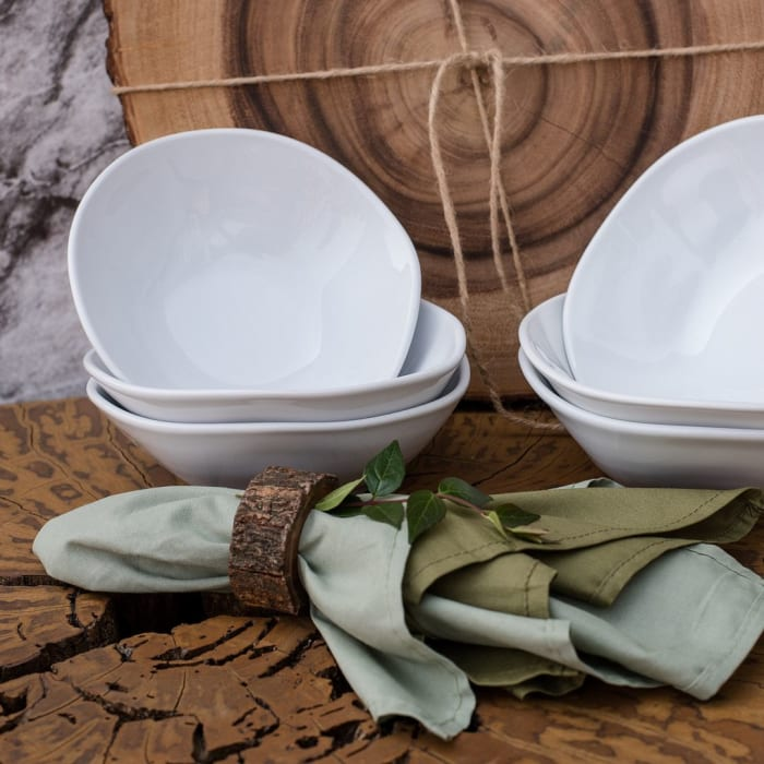 RYO 12 Piece White Dinner Soup Bowl Set