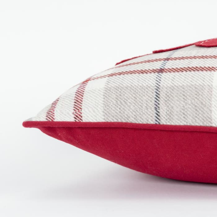 Merry Decorative Holiday Khaki & Red Pillow