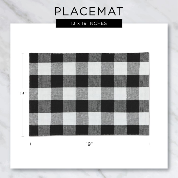 Christmas Buffalo Check With Embroidery Placemat (Set of 6)