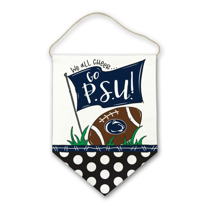 Penn State Canvas Football Door Hanger