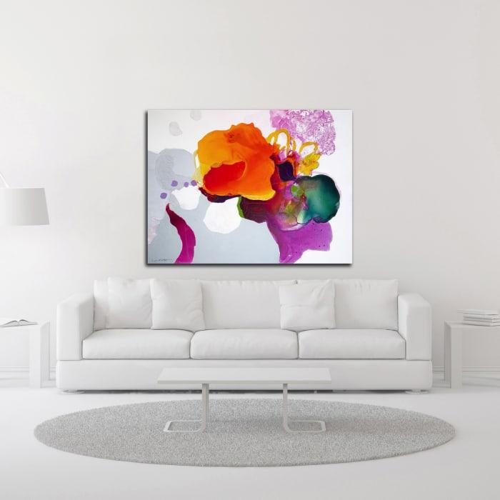 Like a Moth to a Bloom by Lina Alattar Wrapped Canvas Wall Art