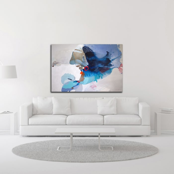 Ocean Tides by Lina Alattar Wrapped Canvas Wall Art