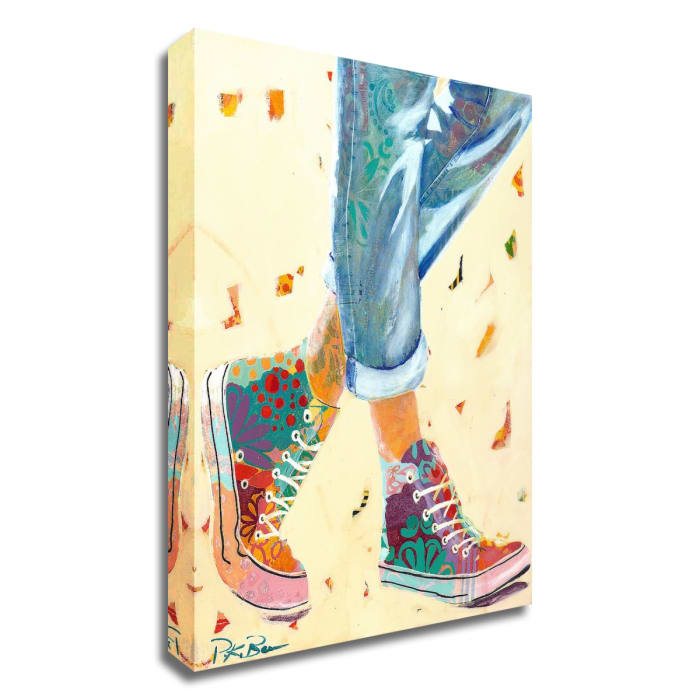 High Tops by Pamela K. Beer Wrapped Canvas Wall Art