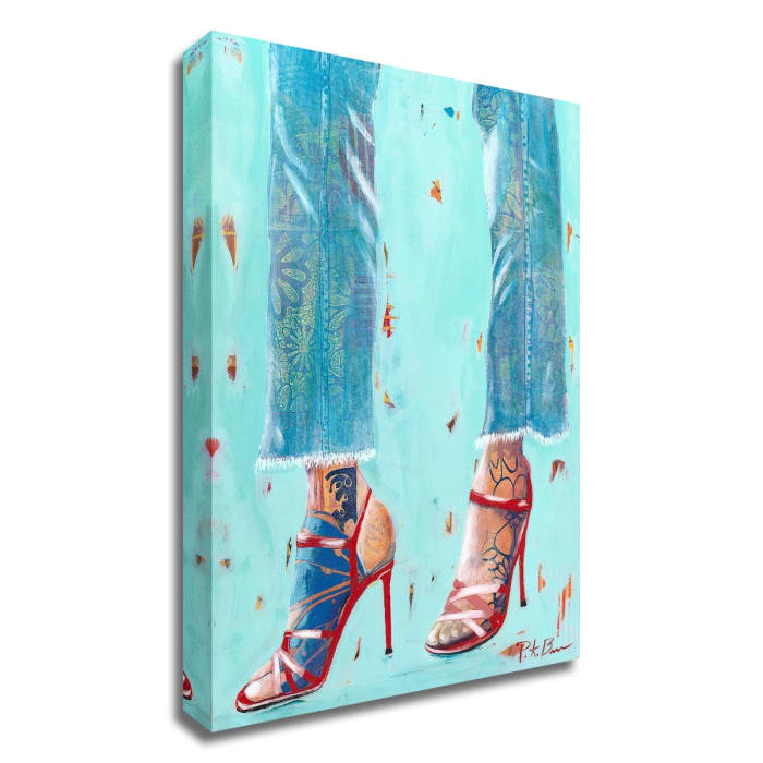 Red Heels by Pamela K. Beer Wrapped Canvas Wall Art