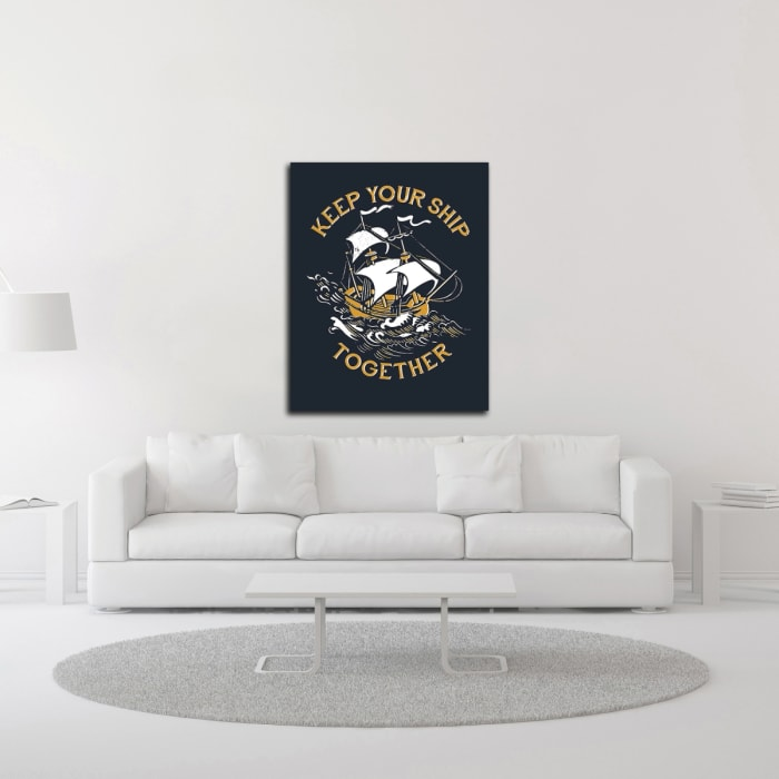 Keep Your Ship Together by Michael Buxton Wrapped Canvas Wall Art