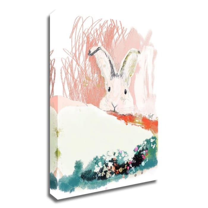 Bunny in the Garden by Niya Christine Wrapped Canvas Wall Art