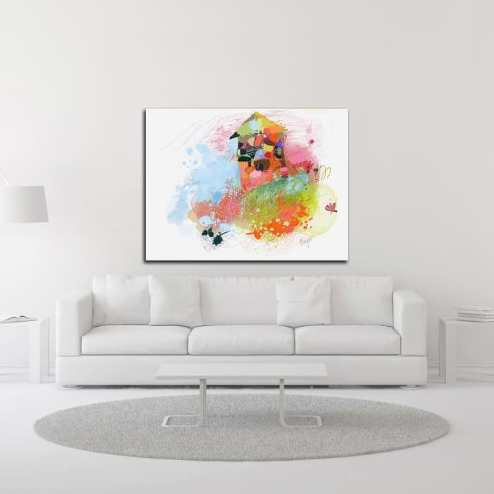 Happy House by Niya Christine Wrapped Canvas Wall Art