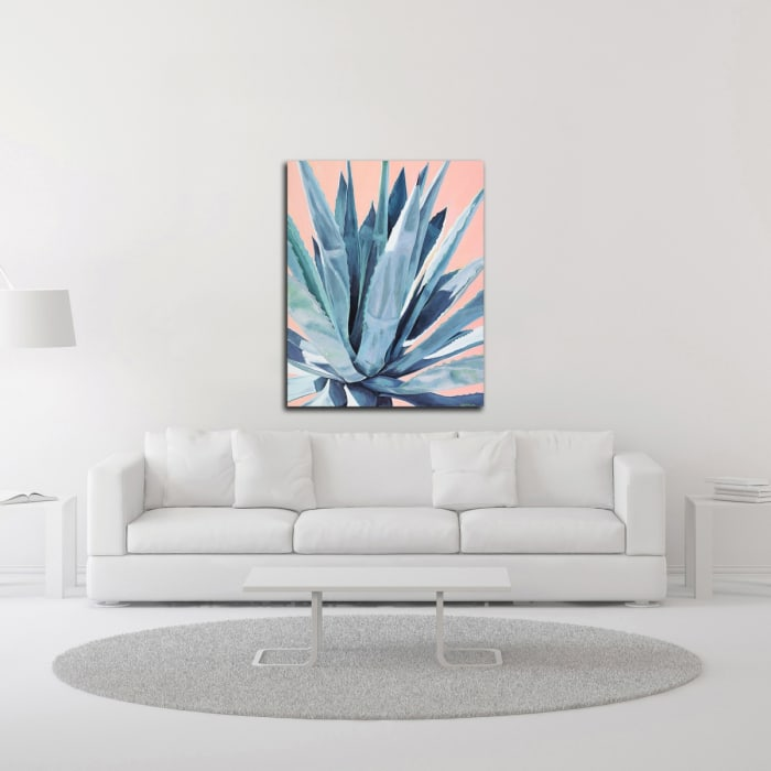 Agave with Coral by Alana Clumeck Wrapped Canvas Wall Art
